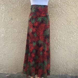 LulaRoe tropical maxi skirt
